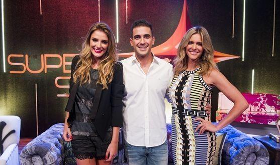 Os apresentadores Rafa Brites, André Marques e Fernanda Lima (Foto: João Miguel Jr./TV Globo)