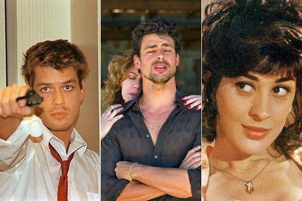 'Labirinto', 'Amores Roubados' e 'Engraçadinha', minisséries que viram filme no Luz, Câmera 50 Anos (Fotos: Divulgação/TV Globo)