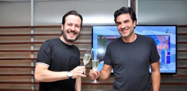 Celso Zucatelli e Edu Guedes assinam com a RedeTV! (Foto: RedeTV!)