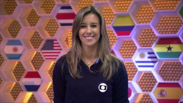 Cristiane Dias no Globo Esporte durante a Copa do Mundo (Foto: Reprodução/TV Globo)
