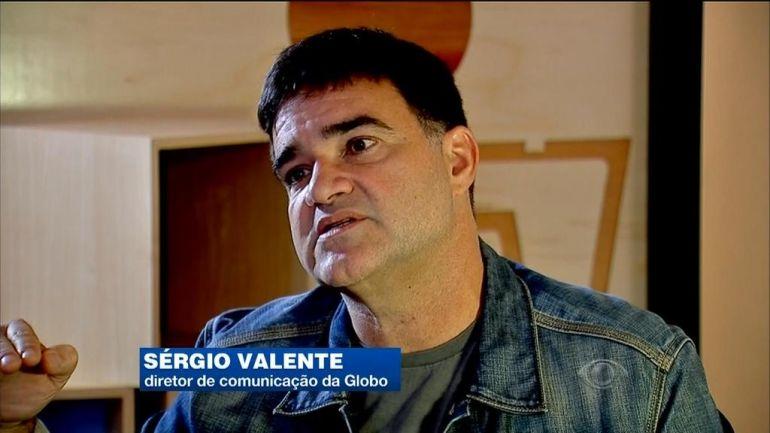 Sérgio Valente foi entrevistado pelo Jornal da Band (Foto: Reprodução/Band)
