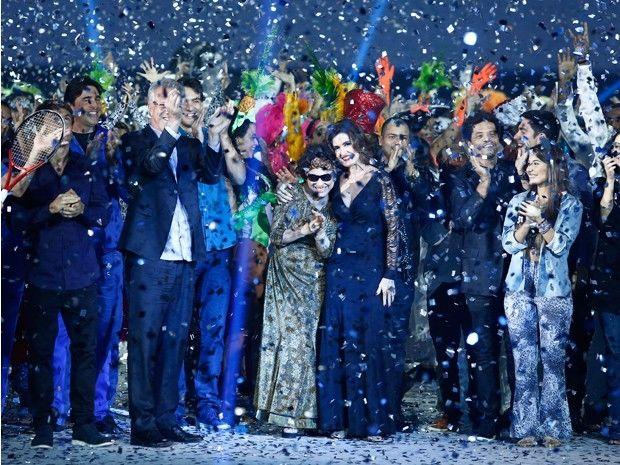 Elenco comemora 50 anos da Globo em show especial (Foto: Raphael Dias/GShow)