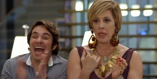 Pepito (Conrado Caputo) e Samantha (Claudia Raia), dupla de sucesso (Foto: Reprodução/TV Globo)