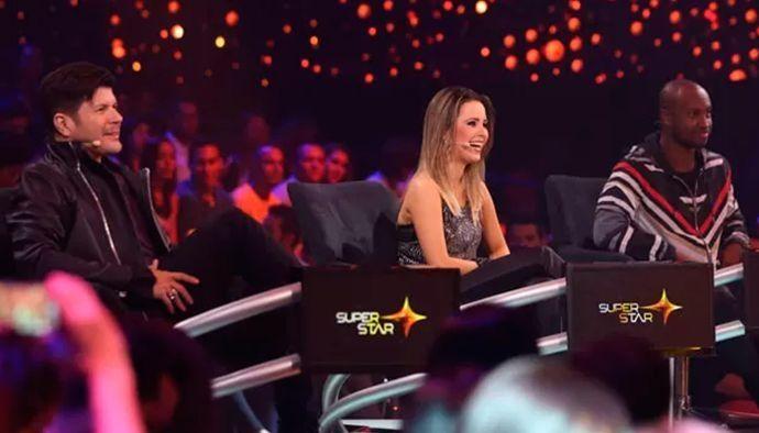 O trio de jurados formado por Paulo Ricardo, Sandy e Thiaguinho (Foto: Reprodução/TV Globo)