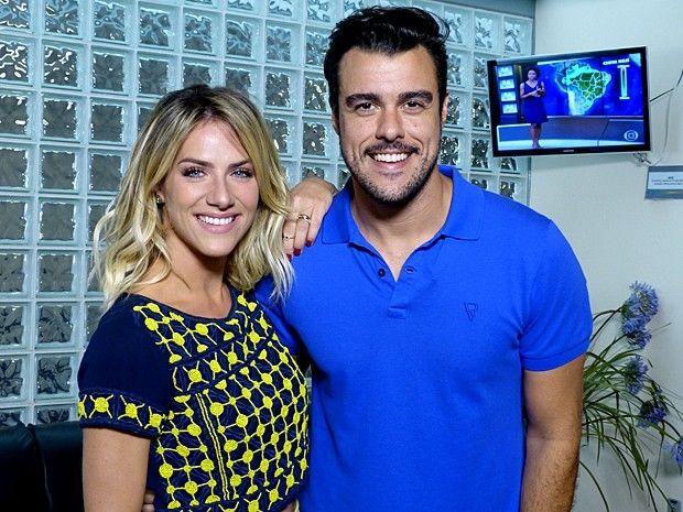 Giovanna Ewbank e Joaquim Lopes: novos no Vídeo Show (Foto: Cristina Cople/TV Globo)