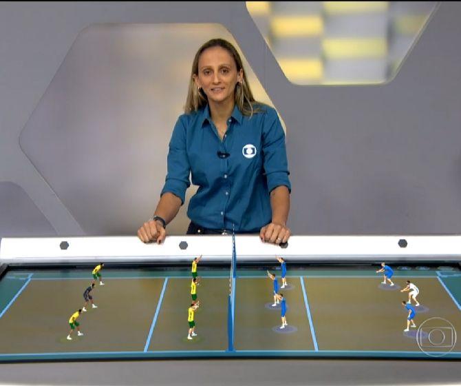 A comentarista Fabi (Foto: Reprodução/TV Globo)