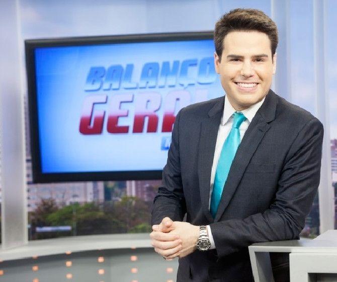 O apresentador Luiz Bacci (Foto: Edu Moraes/TV Record)