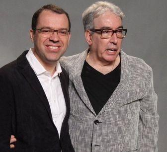 Mario Teixeira e Alcides Nogueira. Foto: Divulgação/Globo