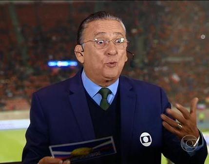 Galvão Bueno no jogo Brasil x Chile (Foto: Reprodução/TV Globo)