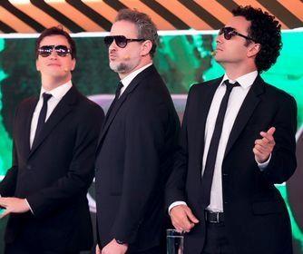Cortez, Stulbach e Luque. Foto: Band/Divulgação