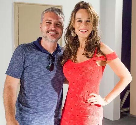 O diretor Fred Mayrink e a atriz. Foto: Sergio Zalis/Globo