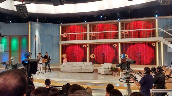 Gravação do programa Xuxa Meneghel.  Foto: Jeferson Cardoso/OPTV