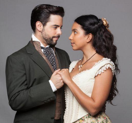 Pedro Carvalho e Gabriela Moreyra. Foto: Record