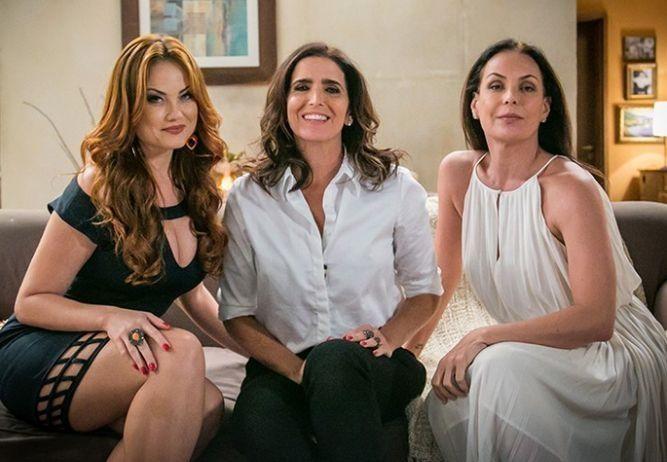 Leonora, Rebeca e Penélope. Foto: Divulgação/Globo
