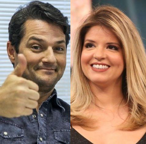 Marcelo Serrado e Mariana Santos. Foto: Globo