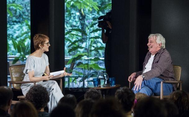Bianca Ramoneda e Marco Nanini. Foto: GloboNews