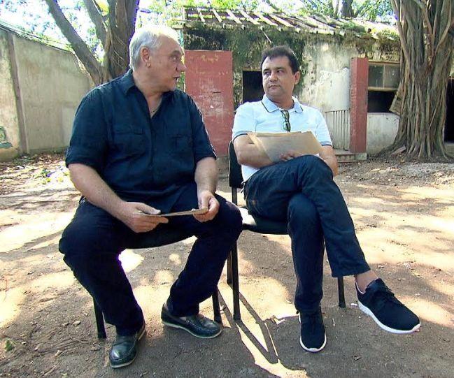 Marcelo Rezende e Geraldo Luis. Foto: Record