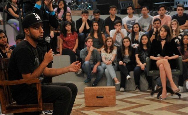 Rapper Lemaestro. Foto: Globo/Reinaldo Marques
