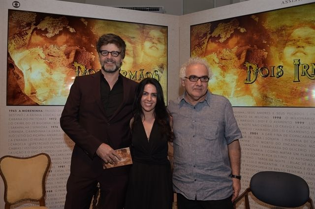 Milton Hamoud , Maria Camargo e Luiz Fernando Carvalho. Foto: Globo / Estevam Avellar