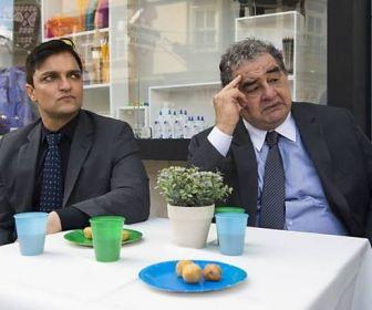 Arlindo (Mauricio Machado) e Venturini (Otávio Augusto). Foto: Globo