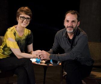 Bianca Ramoneda entrevista o diretor. Foto: Globo