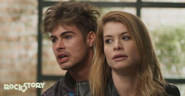Rafael Vitti e Alinne Moraes em cena de Rock Story. Foto: Globo