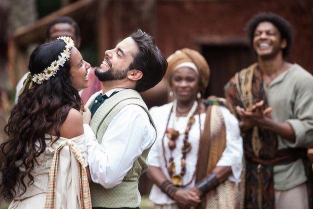 Juliana (Gabriela Moreyra) e Miguel (Pedro Carvalho). Foto: Edu Moraes/ Record TV