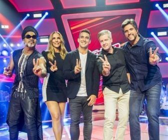 O apresentador e os jurados. Foto: Globo/João Miguel Júnior