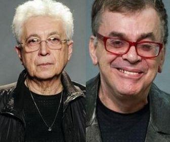 Aguinaldo Silva e Walcyr Carrasco. Foto: Globo