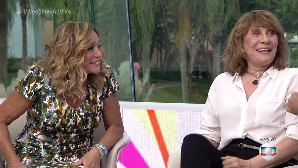 Susana Vieira e Renata Sorrah no Vídeo Show (Foto: TV Globo)
