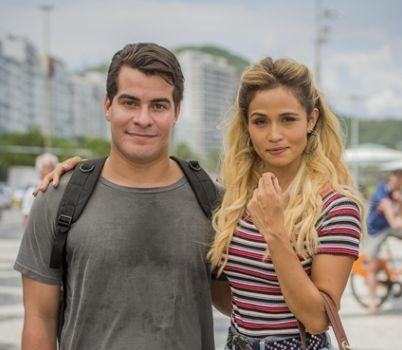Julio (Thiago Martins) e Sandra Helena (Nanda Costa). Foto: Globo