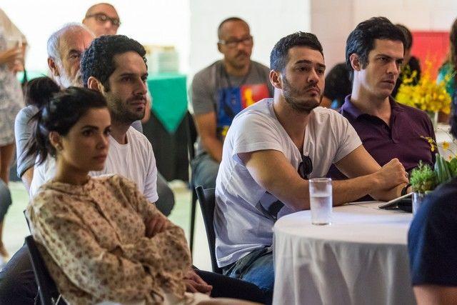 Vanessa Giácomo, João Baldasserini, Marcos Veras e Mateus Solano. Foto: Globo