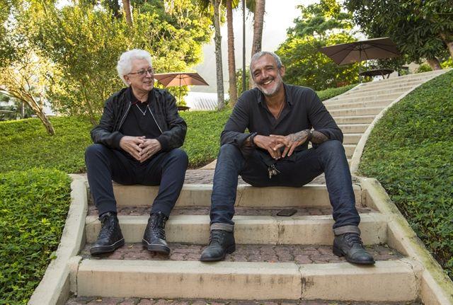 Aguinaldo Silva e Rogério Gomes. Foto: Globo/Estevam Avellar