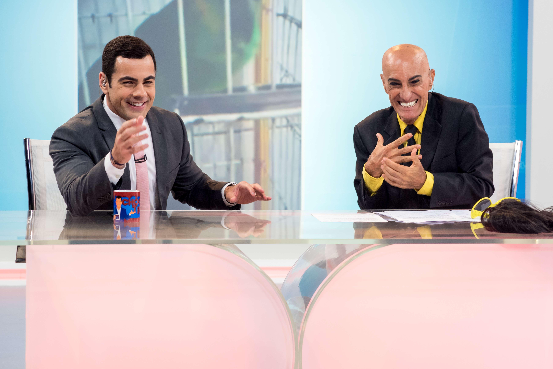 Tino Junior e Amin Khader. Foto: Divulgação/Comunicação/Record TV