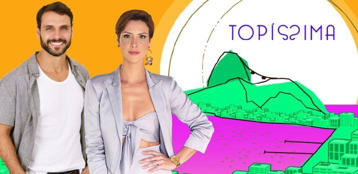Os protagonistas de Topíssima. Foto: Comercial/Record TV