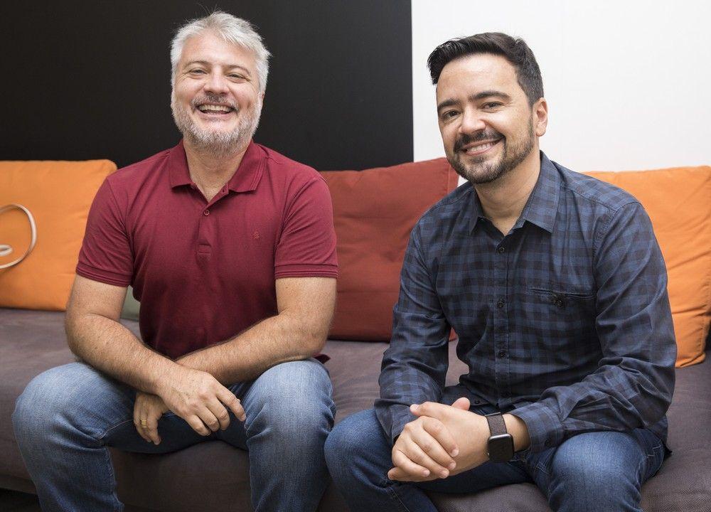 O autor e o diretor. Foto: João Miguel Junior/Globo
