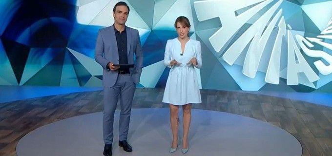 Tadeu Schmidt e Poliana Abritta. Foto: Reprodução/Globo