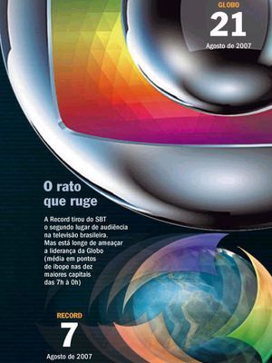Revista Veja trás na capa disputa entre Globo e Record